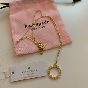 Kate Spade Cubic Zirconia Round Gold Necklace